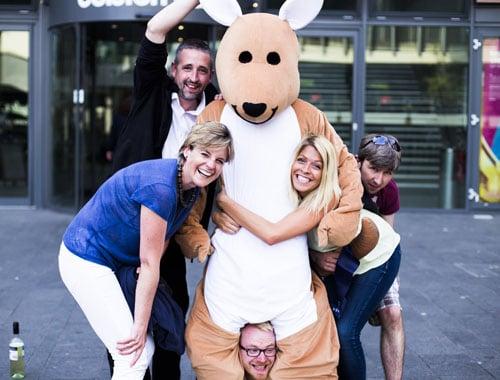 Edinburgh Mascot Costume Staff UK Nationwide Promotion Event Staffing Agency Varii